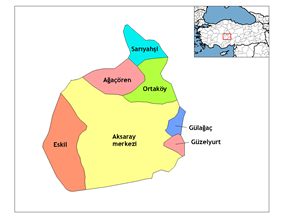 Districts of Aksaray