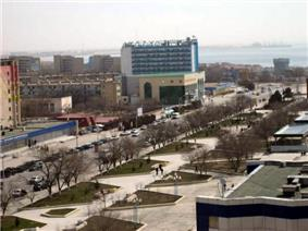 Skyline of Aktau