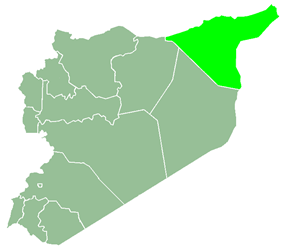 Al-Hasakah Governorate within Syria