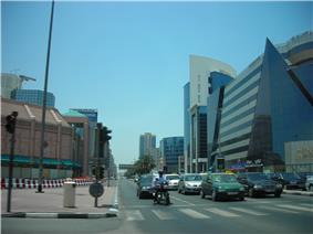 The intersection of Al Hamriya and Umm Hurair