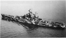 Alabama (BB-60), 1 December 1942, in camouflage.
