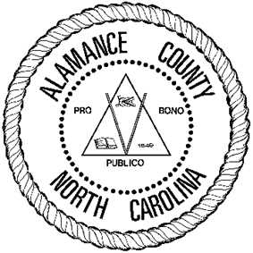 Seal of Alamance County, North Carolina