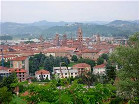 View of the city of Alba