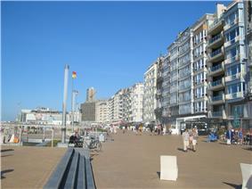Promenade at Ostend seaside
