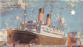Postcard of SS Albertic