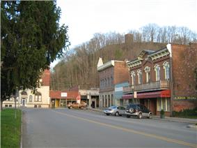 Historic section on the Monroe County side