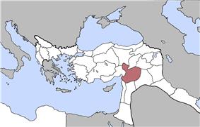Location of Aleppo Vilayet
