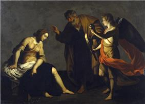 Alessandro Turchi - Saint Agatha Attended by Saint Peter and an Angel in Prison - Walters 37552.jpg