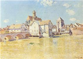 Moret-sur-Loing, Alfred Sisley, 1888