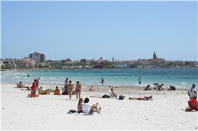 View of Alghero from the Lido's beach.