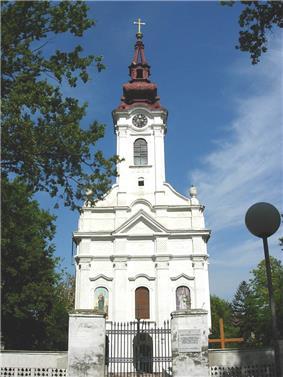 Serbian Orthodox church in Alibunar