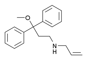 Chemical structure of Alimadol.