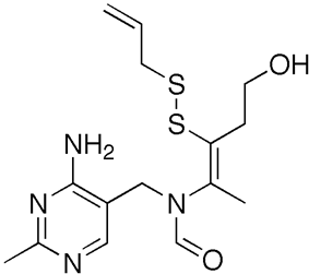 Skeletal formula of allithiamine