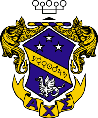 The official crest of Alpha Chi Sigma.