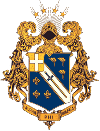 The official coat of arms of Alpha Phi Omega