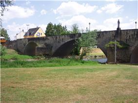 Alte Sauerbrücke viewed from Echternach bank
