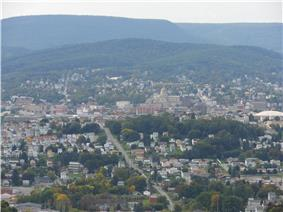 Skyline of Altoona, Pennsylvania