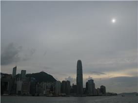 Altostratus translucidus over Hong Kong, China in May.