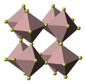 Aluminium trifluoride crystal structure