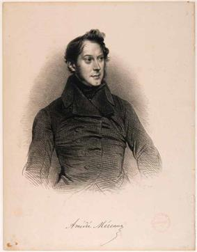 Engraving of Amédée Méreaux