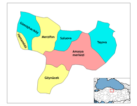 Districts of Amasya