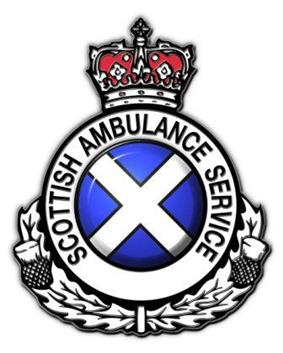 The logo of the Scottish Ambulance Service