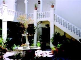 Courtyard of American Legation in Tangier, Morocco
