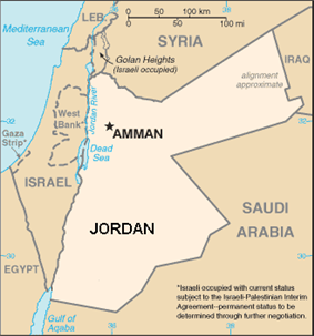 The location of Municipality of Greater Amman in Jordan.