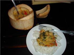 អាម៉ុកត្រីorAmok, a popular Khmer dish