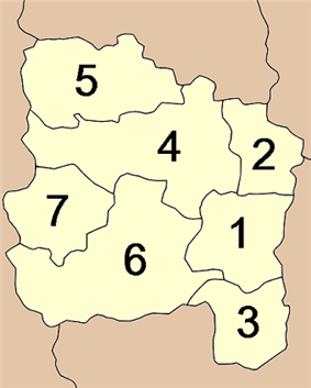 Map of Amphoe