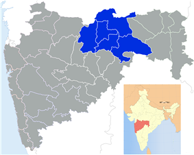 Location of Amravati division in Maharashtra