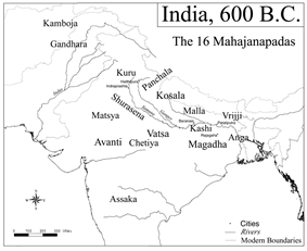 Ancient Indian kingdoms, 600 B.C.