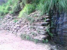 Remains of the ancient wall.