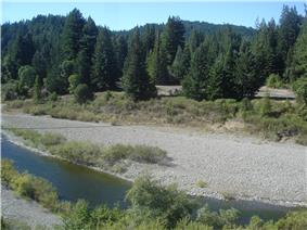 Little remains of Andersonia at the confluence of Indian Creek and the South Fork Eel River.