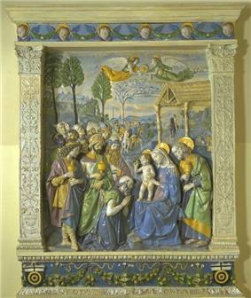 Andrea della Robbia, The Adoration of the Magi altarpiece (c. 1500–1510), Victoria and Albert Museum, London.jpg