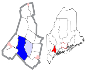 Location of Auburn, Maine