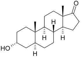 Skeletal formula of androsterone