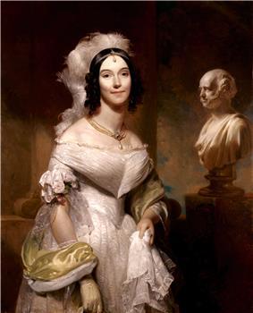 Portrait painting of Angelica Singleton Van Buren