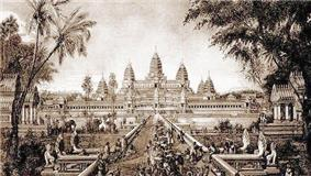 Drawing of Angkor Wat, Cambodia, by Louis Delaporte (1880)