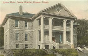 Postcard from circa 1910 showing the Nurses' house at the Kingston General Hospital, now known as the Ann Baillie Building