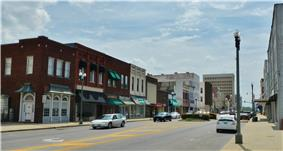 Downtown Anniston in 2012