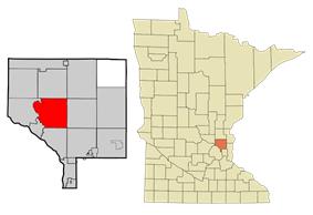 Location of the city of Andoverwithin Anoka County, Minnesota