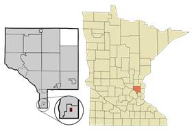 Location of the city of Hilltopwithin Anoka County, Minnesota