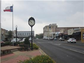 Streetscape of historic downtown Henderson