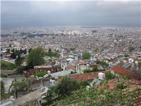 Antakya skyline from high ground.