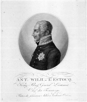 Print of Anton von L'Estocq in profile
