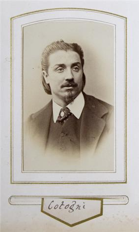 Photograph of Antonio Cotogni in the 1860s