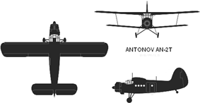 Orthographically projected diagram of the Antonov An-2T