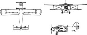 Orthographically projected diagram of the Antonov An-2