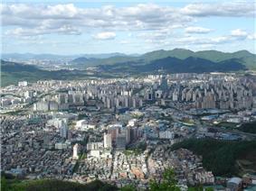 Anyang city from Suri mountain.